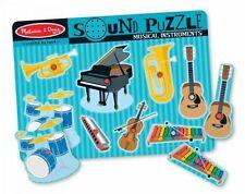 Geräusche Puzzle Steckpuzzle Musikinstrumente Musik Holz