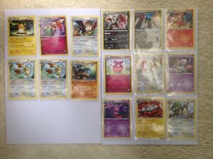 15 Non-Holo Rare Breakthrough Pokemon Cards Bundle Excellent to Near Mint Minus