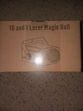 16and1 Laser Magic Ball 16 Patterns LED Stage Projector Party Light with Remote