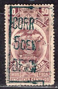 ECUADOR 1898/9 OFFICIAL STAMP Sc. # O 97 PARTIAL SURCHARGE MH