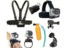 For GoPro Accessories Kit Wrist band Car Suction Cup Chest strap Head Strap