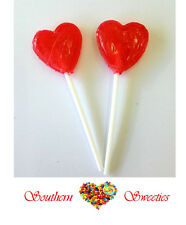 LITTLE RED HEART LOLLIPOPS 100CT bulk lolly pops candy buffet lollies parties