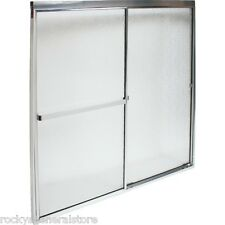 "Bath Tub & Shower By-Pass Sliding Doors & Frame 44 1/2"" - 46 1/2"" Wide New"