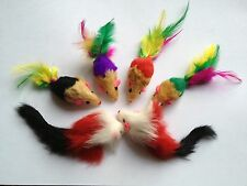 Cat Toy 20 Rattle Real Long & Short Furry Mice+++ Free 2 Big MIce