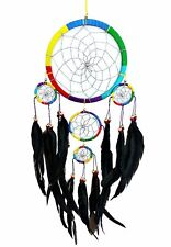 Handmade Dream Catcher with feathers wall hanging decoration ornament-mu