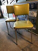 Vintage Pr. AAA Chairs Mid Century Mid Modern Chrome Vinyl Dinette St. Paul Minn