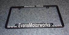 Evans Motorworks Advertising License Plate Frame Dayton Ohio For Rescue Charity