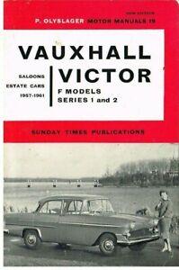 VAUXHALL VICTOR F MODEL SERIES 1 & 2 (1957-61) OWNERS REPAIR MANUAL * VGC *