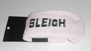 Victoria's Secret Pink Fleece Holiday Sleigh What Crew Socks Pink One Size NEW