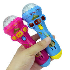 LED Projection Microphone Flash Microphone Light-emitting Baby Kids Xmas Toy