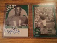 Michigan State 2 TK Legacy James Ellis Cards 1 Autographed 1 Letterman BRAND NEW