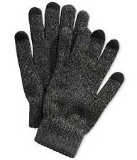$65 Alfani Mens Knit Gray Touch Screen Athletic Winter Outdoor Gloves One Size
