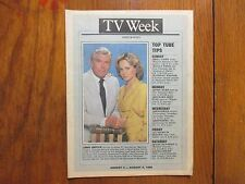 Aug. 3, 1986 N Y Daily News TV Week Magazine(MATLOCK/ANDY  GRIFFITH/LINDA  PURL)