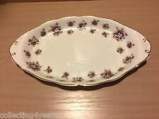 Sweet Violets ROYAL ALBERT England OVAL REGAL sandwich or biscuit TRAY / DISH