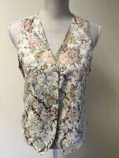 Button Hip Length Polyester Regular Waistcoats for Women