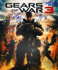"""~~ GEARS OF WAR 3 Cast(x6) Authentic Hand-Signed """"John DiMaggio"""" 11x14 photo ~~"""