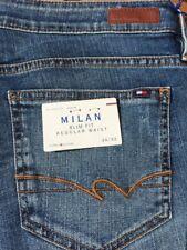 Tommy Hilfiger Women's Milan Slim Fit  distressed Jeans | Blue |  W34/L32