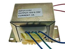 VCT 110v/115v/120v 60Hz 30V, 2A Center Tapped (15-0-15) Transformer