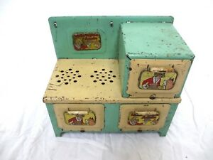 Little Orphan Annie Electric Play Stove and Oven Pressed Steel