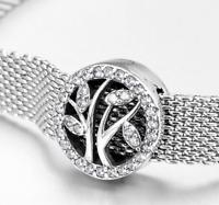 925 Silver Sparkling Dazzling Leaf Clip Charm Fits Reflexions bracelets