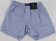 Ralph Lauren Classic Fit Blue Plaid Boxer Shorts Pink Pony NWT