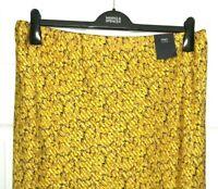 Ladies Slip Skirt M&S Mustard Animal Print Satin Midi Aline 18 BNWT Marks Women