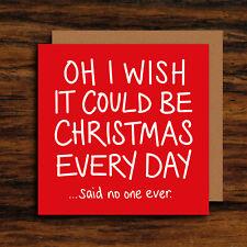 Funny Christmas Card - Humour Song Lyrics Christmas Card - Xmas Everyday Card