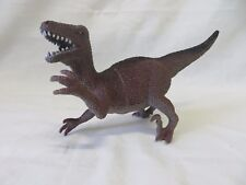 "Deinonychus Dinosaur PVC Figurine Figure Toy 8"" Brown Black  #6060"