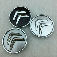 4x 60mm Wheel Center Hub Caps Badge Wheel Rim Logo Emblem for Citroen C2 C4 C5