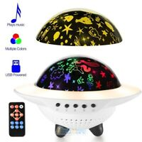 USB Bluetooth LED Starry Light Sky Projector 360 Rotating Music Star Night Lamp