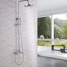 Wall Mount Bathroom Shower Faucet Handheld Wand Shower Sprayer Tub Mixer Tap Set
