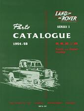 Land Rover Series I Parts Catalogue 1954-1958 FACTORY WORKSHOP REPAIR MANUAL