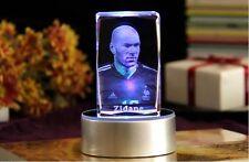 Zidane 3D Laser Engraving LED Crystal Carving Zinedine of Real Madrid Souvenir