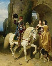 John Frederick Herring Sr A Cavaliers Visit Print 11 x 14 #5231