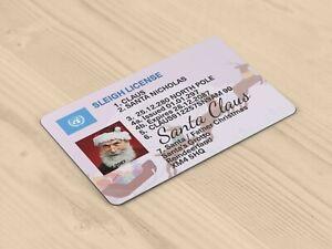 Christmas Xmas Novelty Santa Claus ID Card - Santa Sleigh Driving Licence