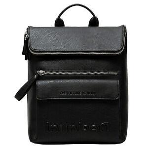 Desigual Damen Rucksack Daypack Backpack Back Embossed Half Logo Nerano 21SAKP08
