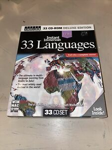 Instant Immersion 33 Languages 32  WIN PC MAC CD ROMs Learn Foreign Language