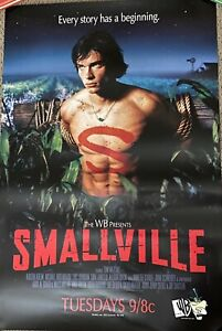 SMALLVILLE WB Launch POSTER Tom Welling WB  Rare CW. No Rips/tears Kristin Kreuk