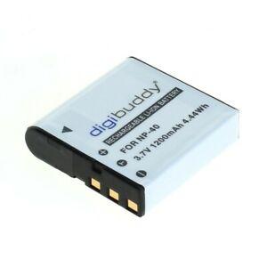 digibuddy Akku für Casio NP-40 (1200mAh/4,44Wh)