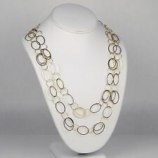 "Lightweight Open Oval & Circle Chain Necklace 14 kt Yellow Gold 46 1/2"" sku 6100"