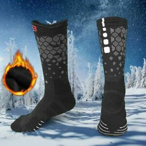 1pair Long Warm Breathable Ski Socks Thicken Winter Outdoor Sports Men Women