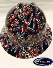 American Biker Pattern Full Brim New Custom MSA V-Gard Hard Hat W/FasTrac