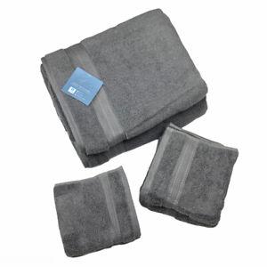 Charisma Solid Bath Hand Face Towel Set Gunmetal Grey 6 pc. 100% Hygrocotton®