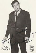 Autographe Original: YVES MONTAND 1921 † 1991 / Vintage.