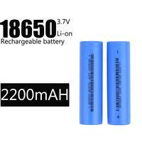 3.7v 2200mAh BRC 18650 Recharge Li-ion Battery For Car Toy Flashlight 2/8/16PCS