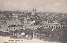 AK  Lausanne et le Grand Pont,