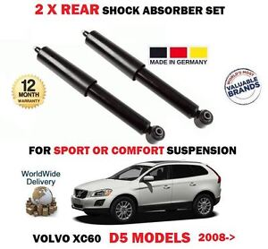 FOR VOLVO XC60 D5 2.4 AWD 2008-> 2X REAR AXLE SHOCK ABSORBER SHOCKER SET