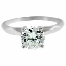 0.75ct Round Cut Solitaire Engagement Ring 14k White Gold