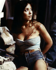 TANYA ROBERTS FORCED ENTRY 8X10 PHOTO BUSTY BARESHOULDERED DENIM SHORTS TIED UP