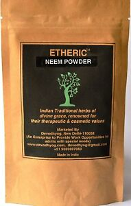 Etheric Neem Powder 100 Gms for Oily Skin 100% pure & Natural